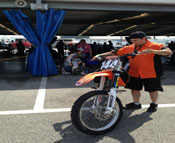 Jason Beck and Team BTR rider Brien Devillo - 2013 Daytona Sx Pro Pits