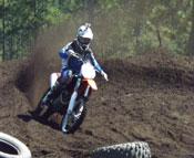 Team BTR Rider Hunter Hawkins throwin' roost